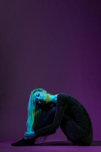 Lady in Purple
